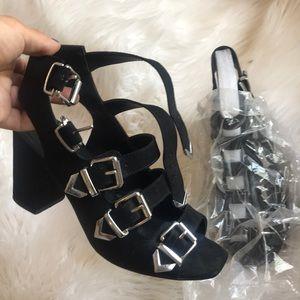 TopShop Black heeled Sandals